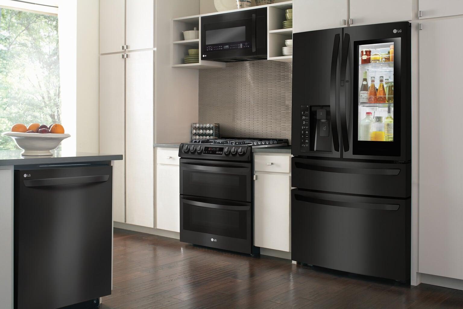 LG Matte Black Kitchen Appliances | Whisky + Sunshine