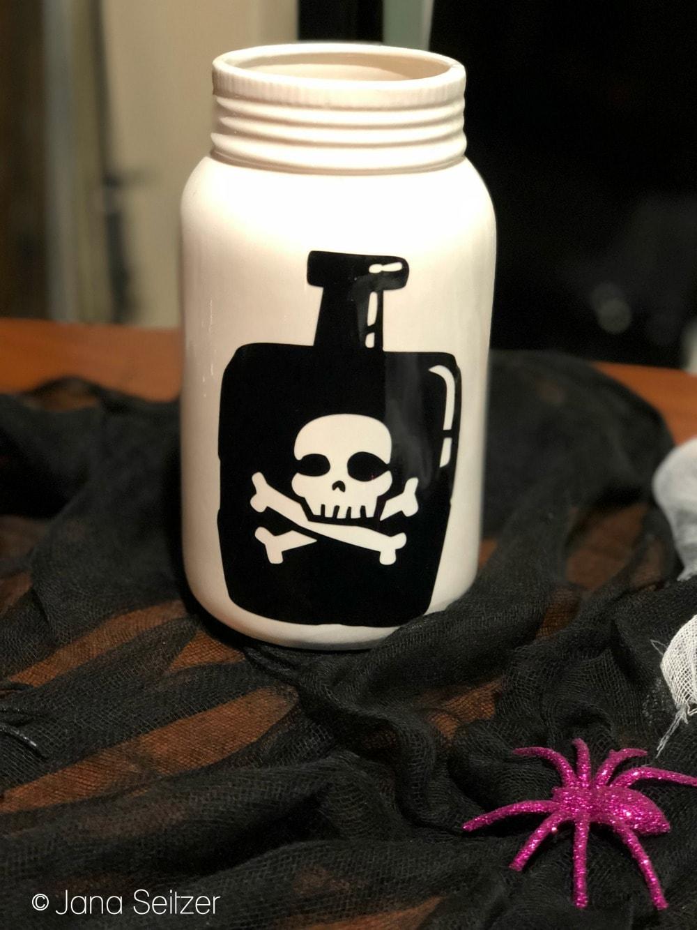 DIY Halloween Decor - Poison Bottle