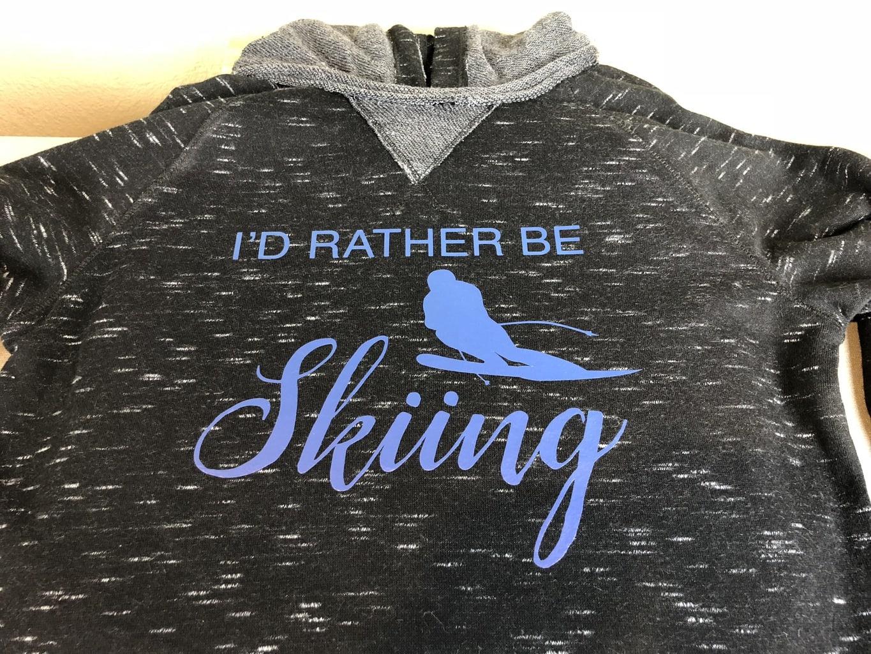 DIY I'd Rather Be Skiing Shirt