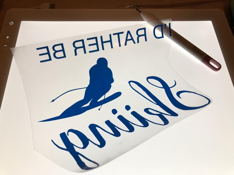 DIY I'd Rather Be Skiing Shirt art