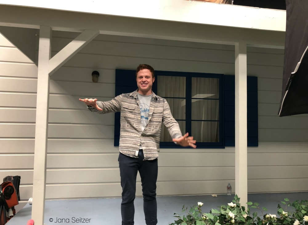 Visit the Set of The Kids Are Alright - house front with Caleb Foote