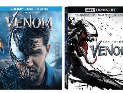 Venom on BluRay 12/18 + Giveaway