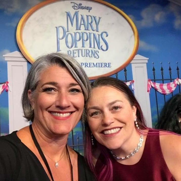 Mary Poppins Returns Red Carpet Premiere jana and tara