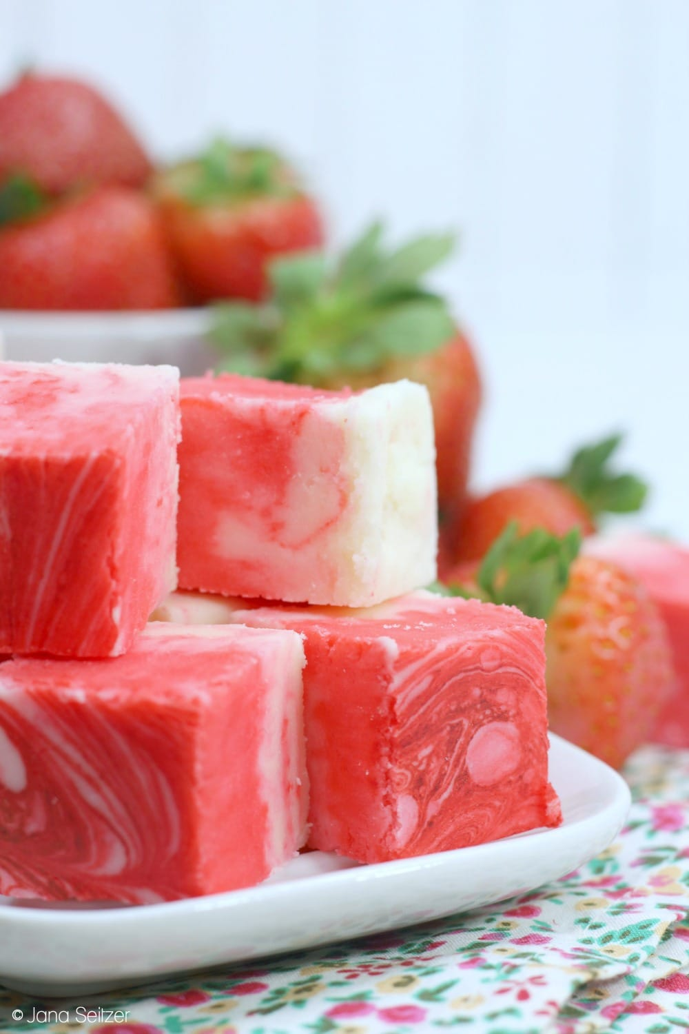 Strawberry Swirl Fudge