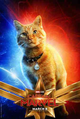 Captain Marvel Character Poster - Goose