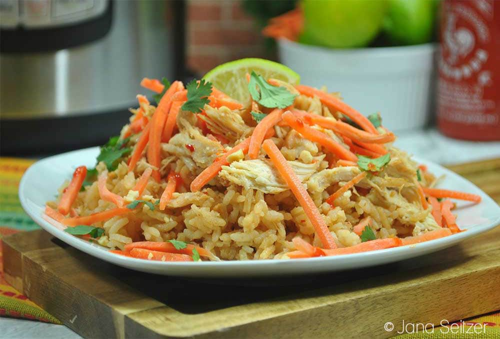 Instant Pot Thai Chicken Rice Bowl