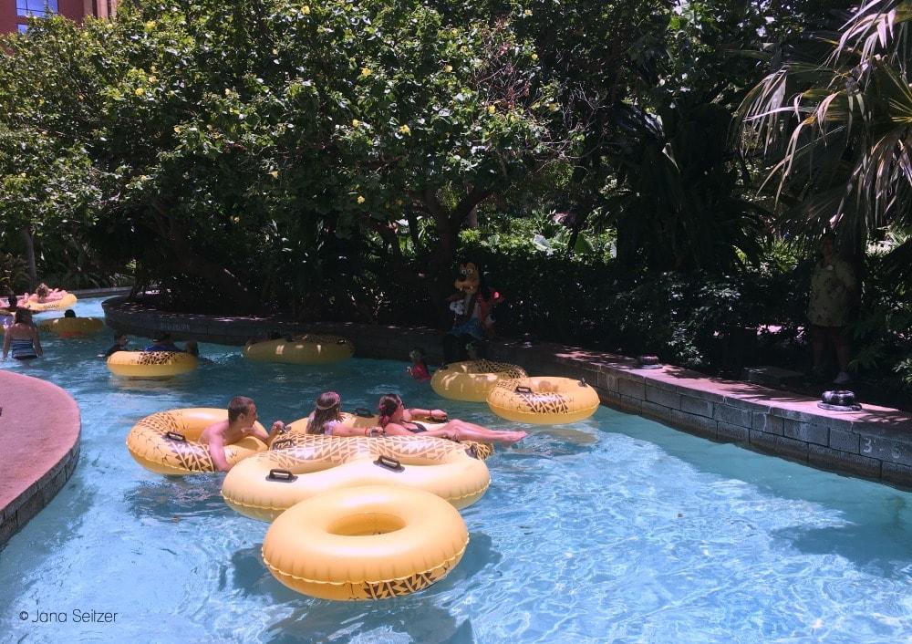 the lazy river at Disney Aulani