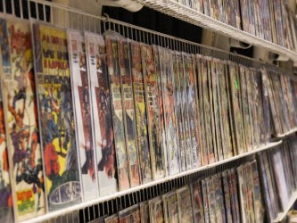 comics on a rack