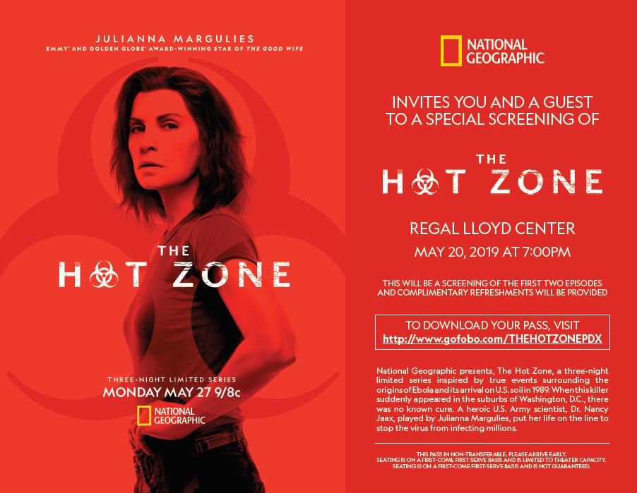 THE HOT ZONE - Evite Flyer - Portland - 5-20