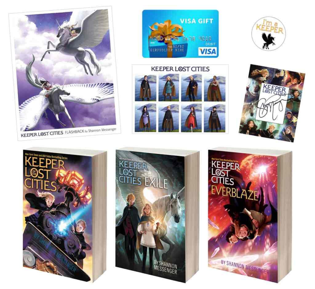 """""""Keeper of the Lost Cities"""" giveaway prize pack"""