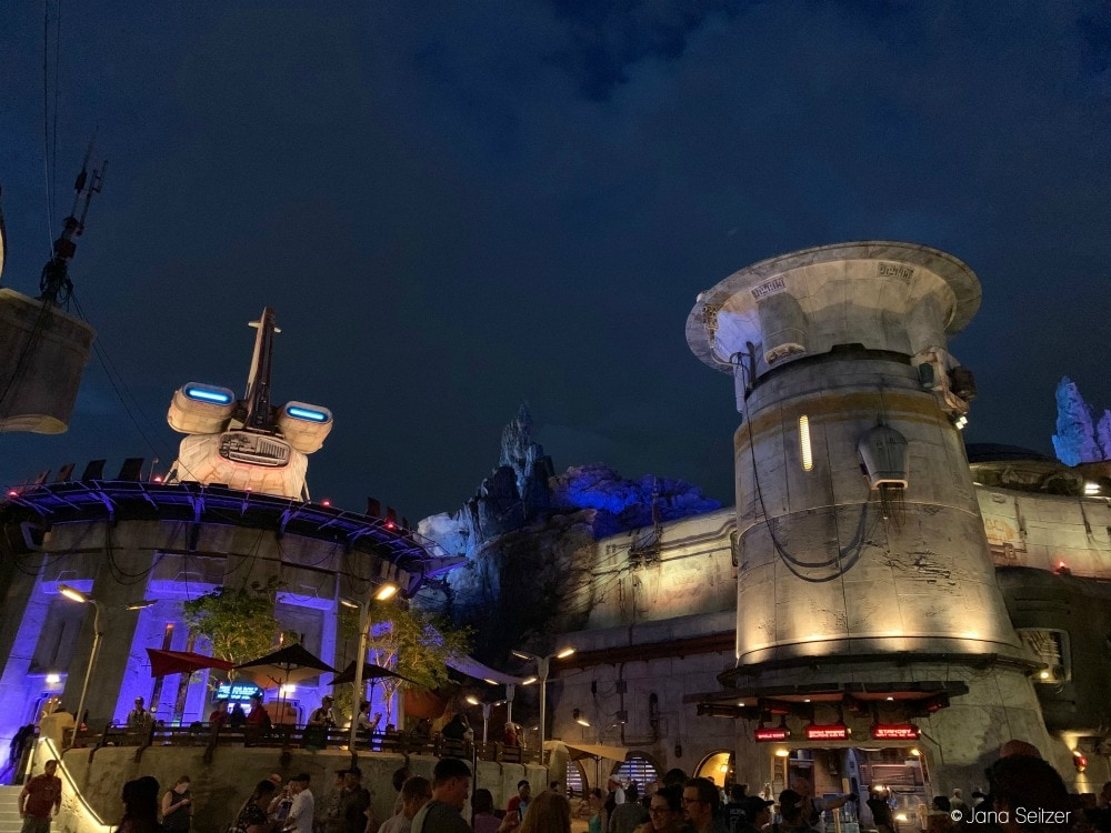 Star Wars Galaxy's Edge Hollywood Studios at night