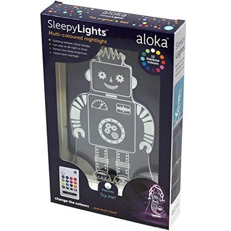 Sleepy Lights Robot LED Bedside Night Light with Remote