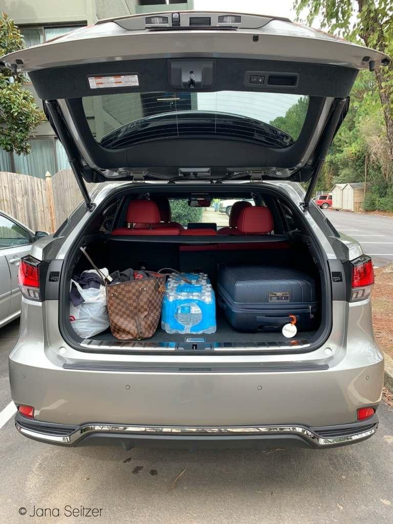 Lexus 2020 RX 450h AWD F Sport trunk trunk space