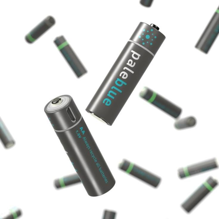 Pale Blue | USB Rechargeable Lithium Smart Batteries