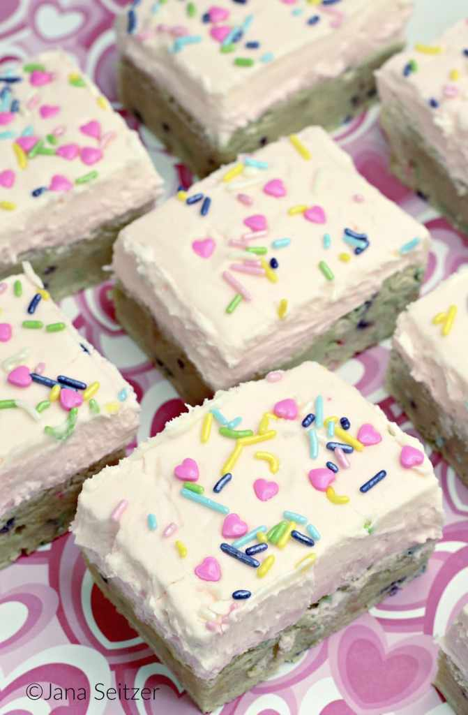 Valentines Day Sugar Cookie Bars