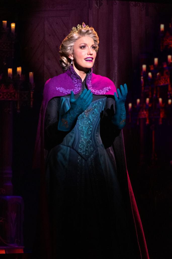 Caroline Bowman as Elsa in Frozen, North American Tour. Photo by Deen van Meer.