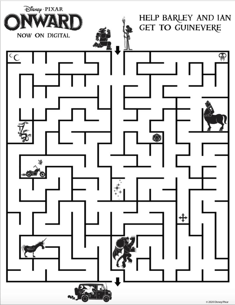 pixar onward maze image