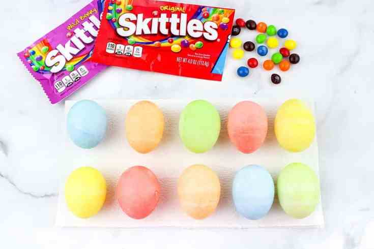 How to Dye Easter Eggs with Skittles