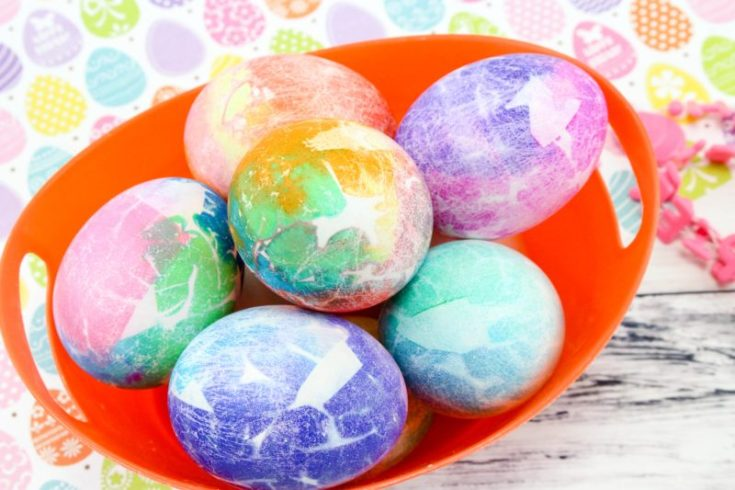 Creative Easter Egg Dying With Tissue Paper - Great For Kids!