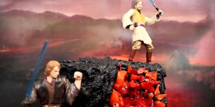 Obi-Wan and Anakin Mustafar Cake