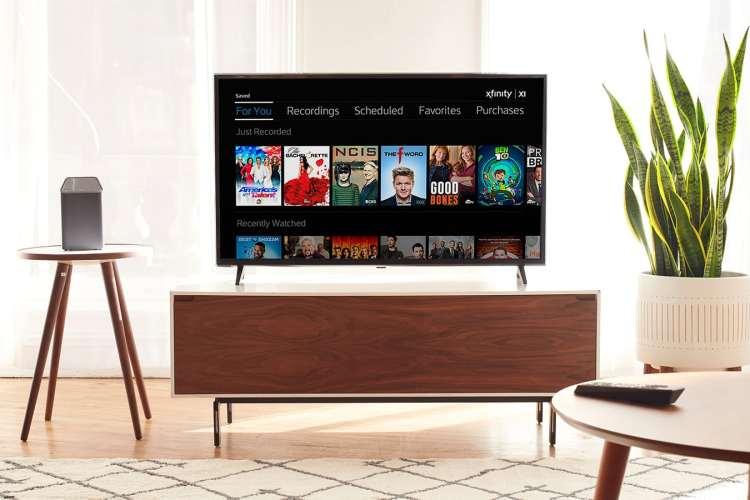 Xfinity TV living room