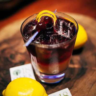 Sour Hour Cocktail for National Whiskey Sour Day August 25th