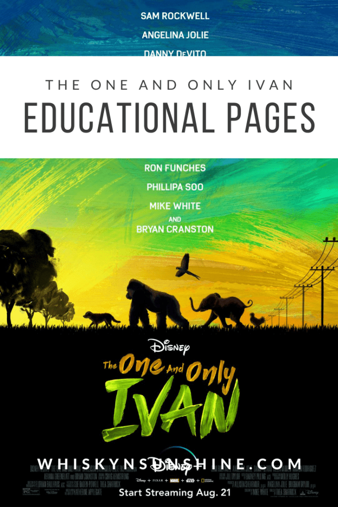 The One and Only Ivan educational pages