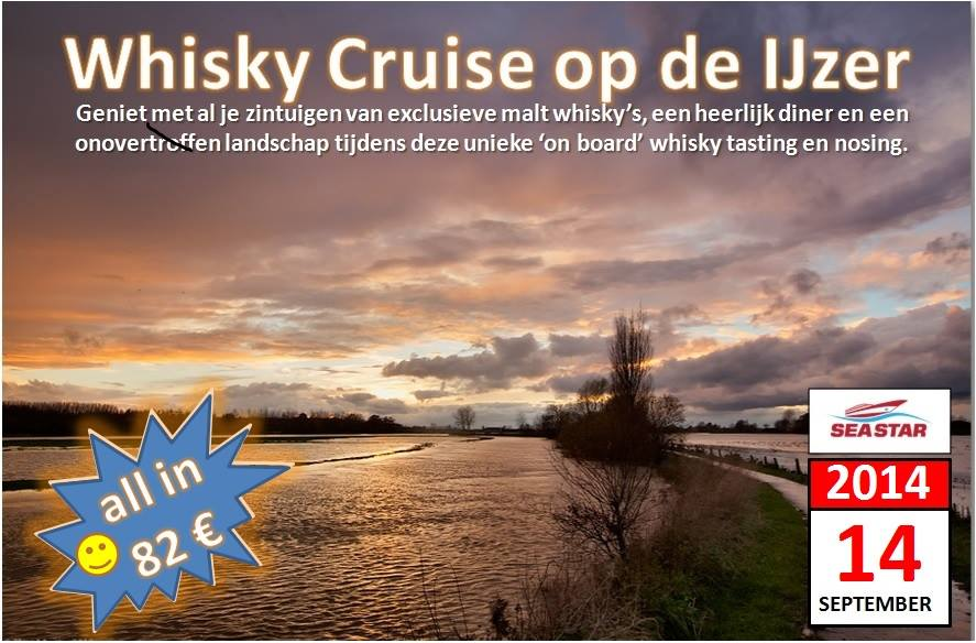Whisky Cruise op de Ijzer - Flyer