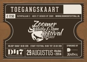 Zoomer Whisky en Rum Festival - Toegangskaart