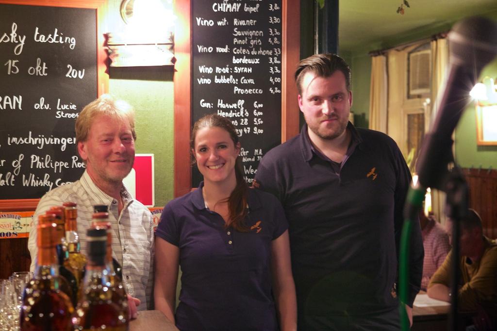 Phillippe (The Malt Whisky Corner), Lucie (Arran) and Timon (The Nectar)