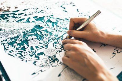 Custom papercut - Publisher Plint - Work in Progress