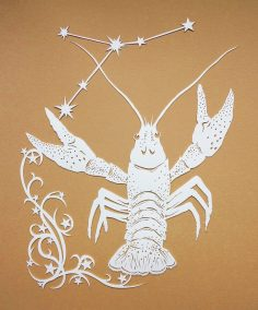 Papercut Illustrations for Libelle Magazine - Cancer - Whispering Paper