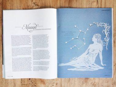 Papercut Illustrations for Libelle Magazine - Magazine - Virgo - Whispering Paper