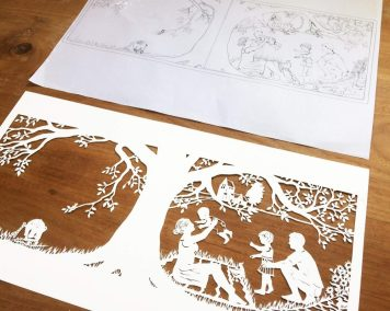Papercut Birth Announcement - Aksel - Design with Papercut - Whispering Paper