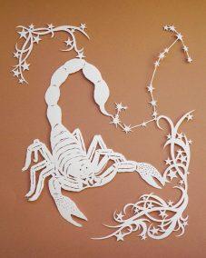 Papercut Illustrations for Libelle Magazine - Scorpio - Whispering Paper