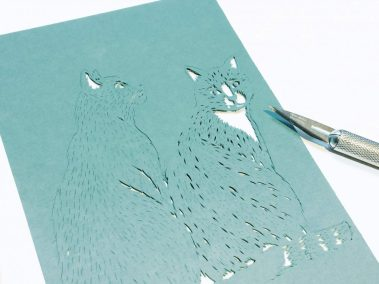 Custom Birth Announcement - Guus - Cats work in progress - Whispering Paper