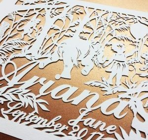 Personal Papercuts for a Brother and Sister