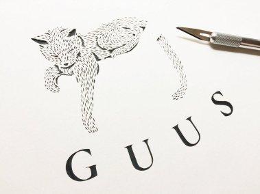 Custom Birth Announcement - Guus - Work in Progress 2 - Whispering Paper