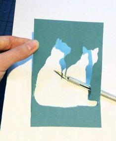 Custom Birth Announcement - Guus - negative shape - Whispering Paper