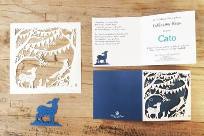 Custom Birth Announcement Cards - Fairytale Forest - Cato - Cards and Papercuts - Whispering Paper