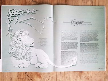 Papercut Illustrations for Libelle Magazine - Magazine - Leo - Whispering Paper