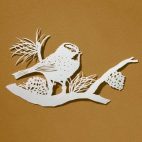 Papercut Illustrations for Libelle Magazine - Great Tit - Whispering Paper