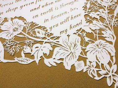 Papercut 25th Anniversary - Detail bottom left - Whispering Paper