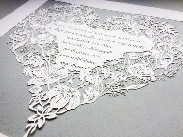 Papercut 25th Anniversary -Bottom on Grey - Whispering Paper