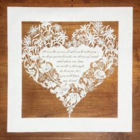 Papercut 25th Anniversary - Total on wood - Square - Whispering Paper