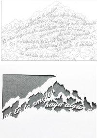 Papercut Anniversary Gift - Mountain Poem - Design - Whispering Paper
