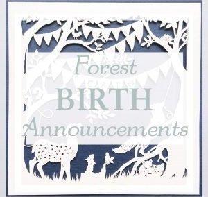 Custom Birth Announcement Forest Celebration