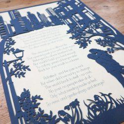 Custom Made Papercutting - Work in Progress