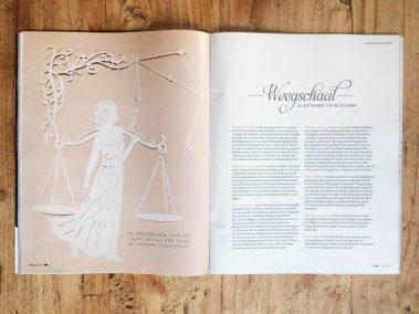 Papercut Illustrations for Libelle Magazine - Magazine - Libra - Whispering Paper