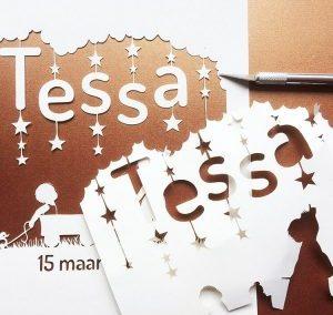 Custom Birth Announcement – Tessa